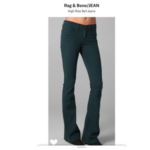 Rag and bone high rise bell jeans in black